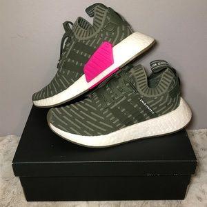 🔥NIB adidas NMD_R2 Primeknit 'Japan Khaki Green'